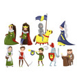 medieval people set characters of middle ages vector image vector image