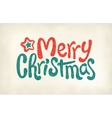 Merry Christmas lettering calligraphy stamp vector image vector image