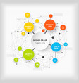 mind map template with colorful circles and place vector image vector image