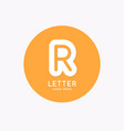 modern linear logo and sign letter r vector image