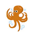 octopus cute sea animal character for childrens vector image vector image
