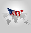 origami paper with usa flag vector image vector image