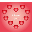 pattern hearts isolated object vector image vector image