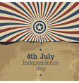 poster for 4th july vector image vector image
