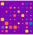 purple simple bg with colorful square elements vector image