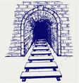 Railway tunnel vector image vector image