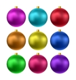 realistic christmas balls vector image vector image