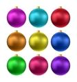 realistic christmas balls vector image