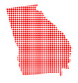 red dot map of georgia vector image vector image