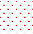 red drum and drumsticks pattern vector image vector image