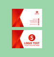 red nice business card vector image vector image