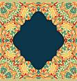 retro boho floral pattern frame three vector image vector image