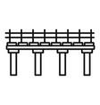 river bridge icon outline style vector image vector image
