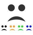 sad smile icon vector image vector image