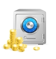 Safe with gold coins vector image