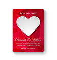 save the date card template vector image vector image