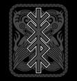 scandinavian viking design mythological animal vector image vector image