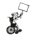 senior man in wheelchair vector image