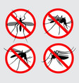 set prohibited aedes egyptian or chikungunya vector image vector image