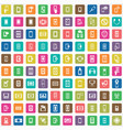 smartphone 100 icons universal set for web and ui vector image vector image