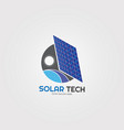 solar energy with gear icons template logo for vector image