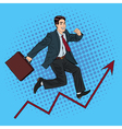 Successful Businessman Career Growth Pop Art vector image vector image