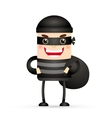 thief hacker vector image vector image
