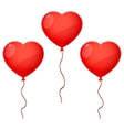 Three Balloon Hearts vector image vector image