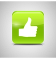 Thumbs Up Glass Button vector image