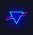 trendy shape triangle vector image