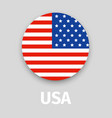 usa flag round icon with shadow vector image vector image