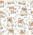 vertical bulldog pattern vector image vector image