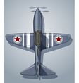 Vintage airplane used in army vector image
