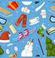 winter christmas symbols icons sport and vector image vector image