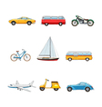 Comic Transport Set vector image