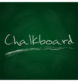 retro dark green chalkboard background with text vector image