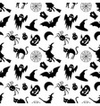 halloween seamless pattern on a white background vector image