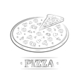 Pizza vintage vector image