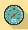 auto speedometer icon flat style vector image vector image