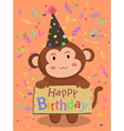 Birthday Monkey Cartoon vector image vector image