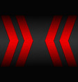 black material background with red arrows vector image vector image