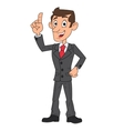 Businessman has an idea vector image