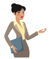 Businesswoman Cartoon Making Presentations vector image