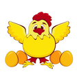 chicken mother vector image