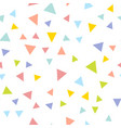 colorful repeating triangle confetti background vector image vector image