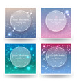 cute abstrack bokeh backgrounds set for web or vector image vector image