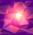 dark red with light low poly backdrop vector image