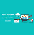 digital marketing banner horizontal concept vector image