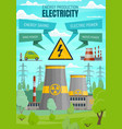 electricity power stations renewable sources vector image