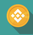 flat design golden coin binance coin - bnb vector image vector image